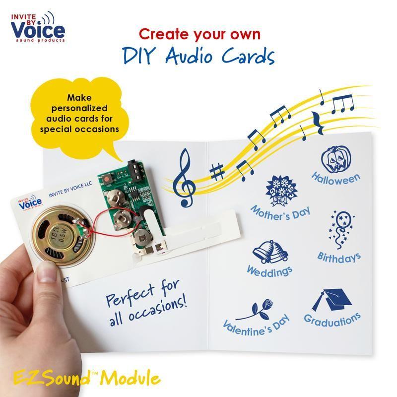 Ezsound Module Diy Greeting Card Recordable Sound Module Musical Cards Cards Musical Greeting Cards