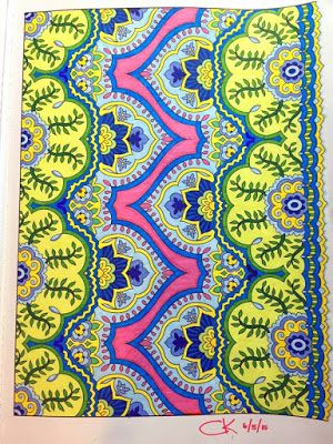 Sunny Side Up Creative Haven Mehndi Designs Medium Pentel