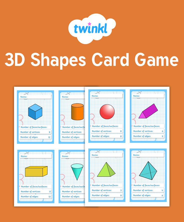 3d shapes card game card games math activities 3d shapes