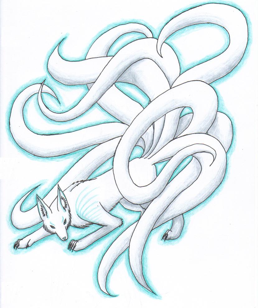 Nine Tailed Fox Spirit By Lyystra On Deviantart Fox Spirit Nine Tailed Fox Fox Artwork