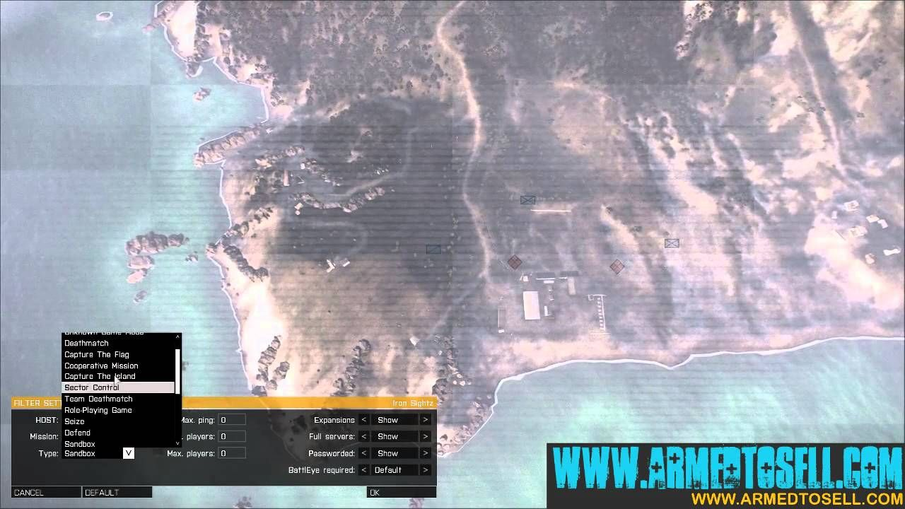 How to get Arma 3 battle Royale servers to show up on the