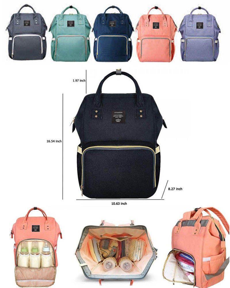 bolso cambiador mochilas mochila estilosa negro Negro Elegante mochila cambiador para beb/é