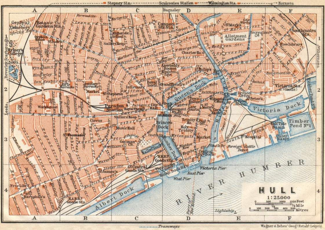 Old map of Hull Yorkshire Travel England Pinterest