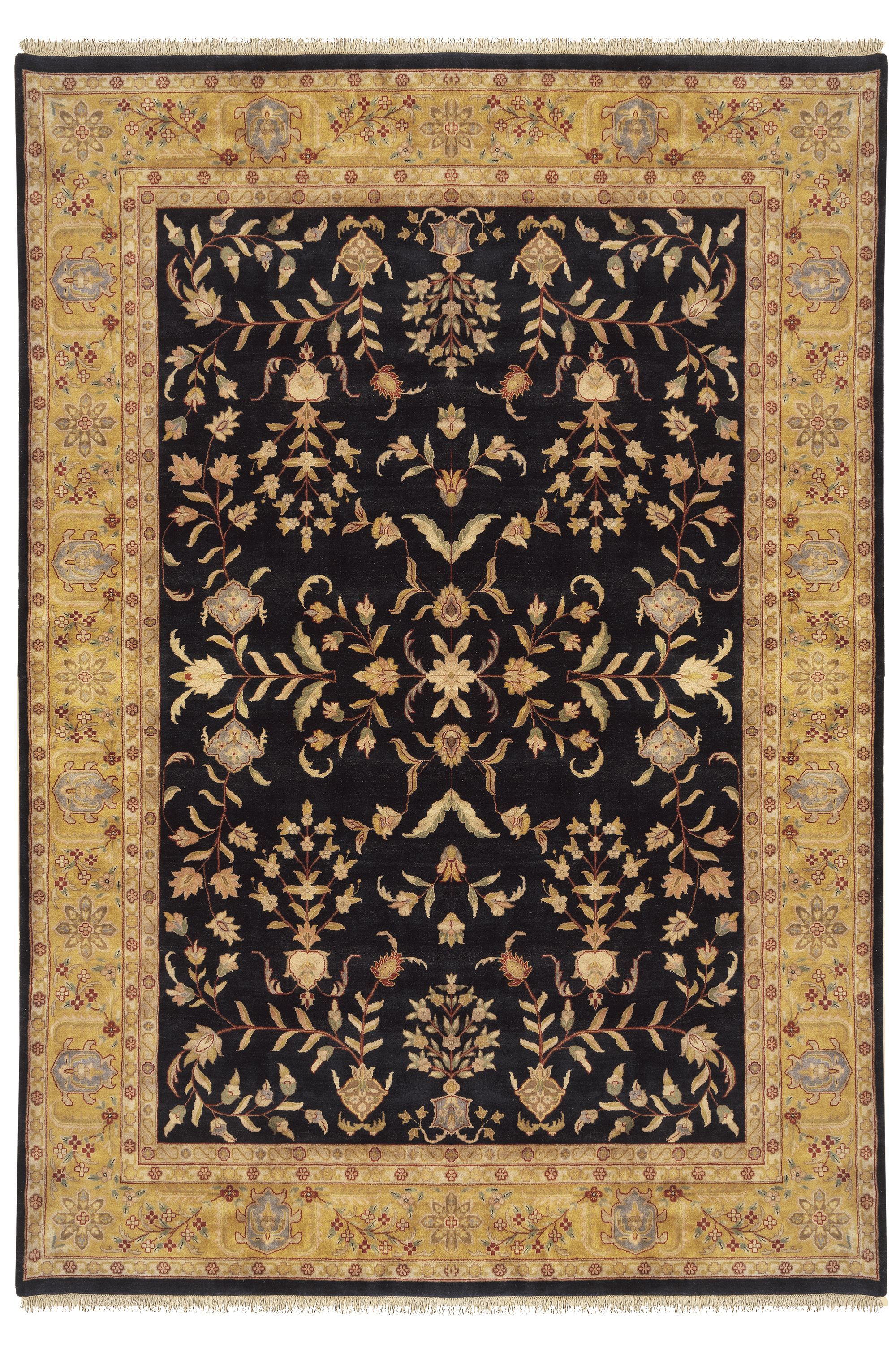 Hand Knotted Fine Quality Tabriz Oriental Rug In Black And Gold From Nejad Rugs Www Nejad Com In Doylestown Buck Oriental Rug Handmade Oriental Rugs Rug Design