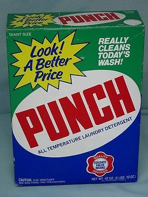 Vintage Laundry Detergent Soap Advertising Punch Unopened Box