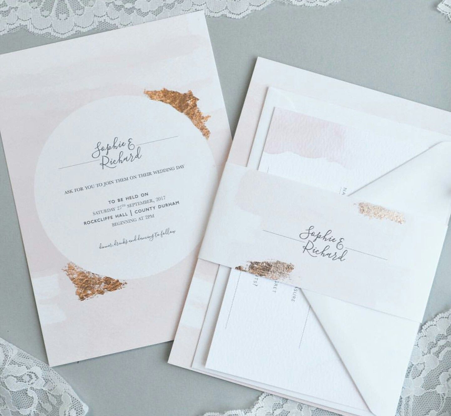 simple but beautiful.. touch of gold #invites #stationary ...