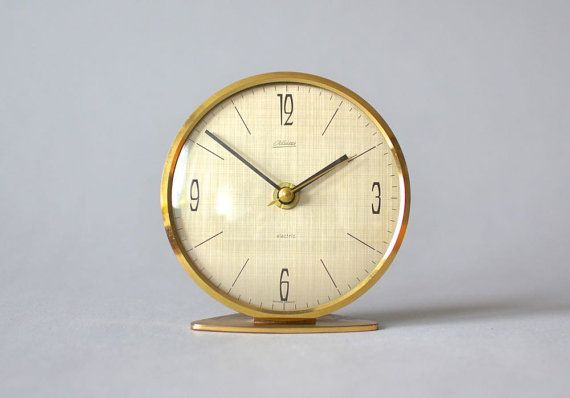 Vintage German brass Kaiser desk clock table by