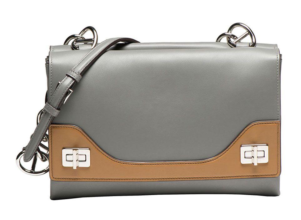 ea6016556c Prada Vitello Soft Bicolor Chain Shoulder Bag