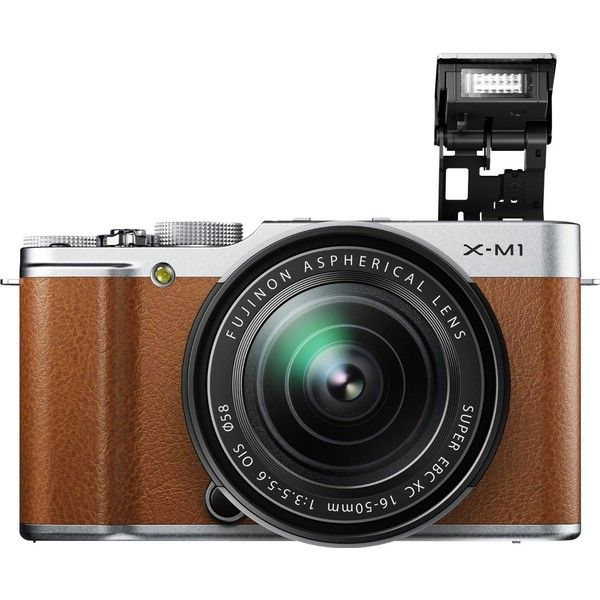 Fujifilm X M1 Compact System 16 Mp Digital Camera With 16 50mm Lens And 3 Inch Lcd Screen Brown Old Model Mirrorless Camera Fujifilm Finepix Finepix