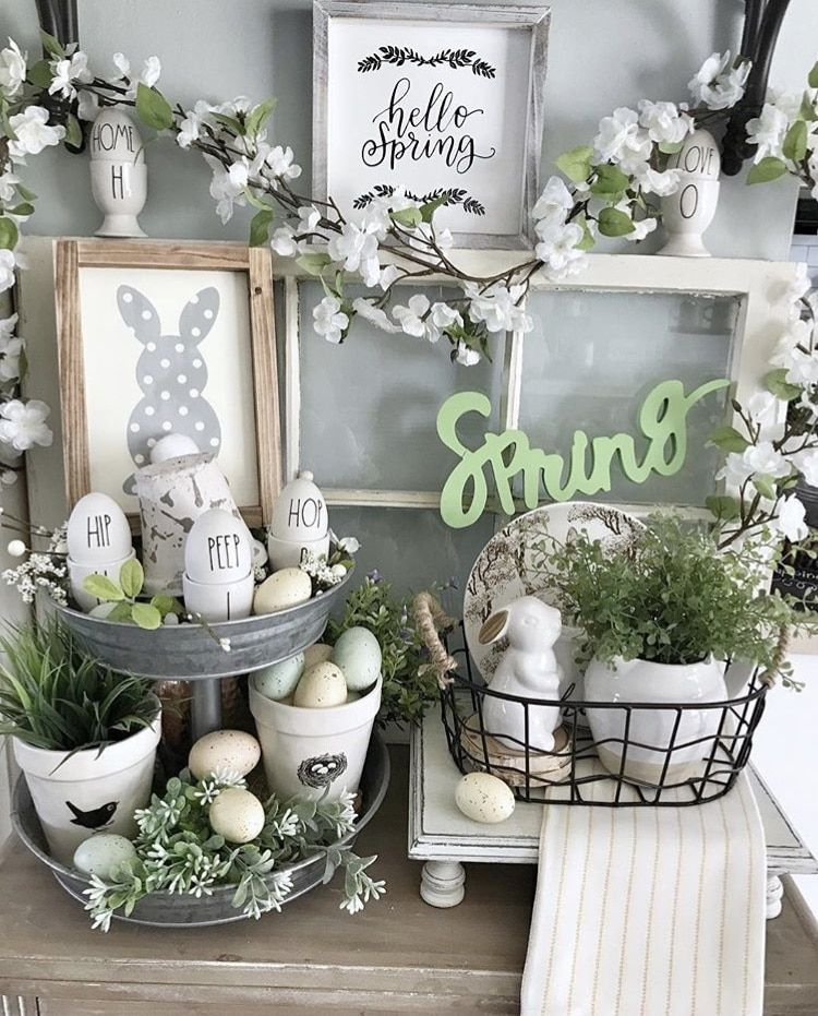 Photo of SPRING DECOR IDEAS FROM TIERED TRAYS TO RAE DUNN