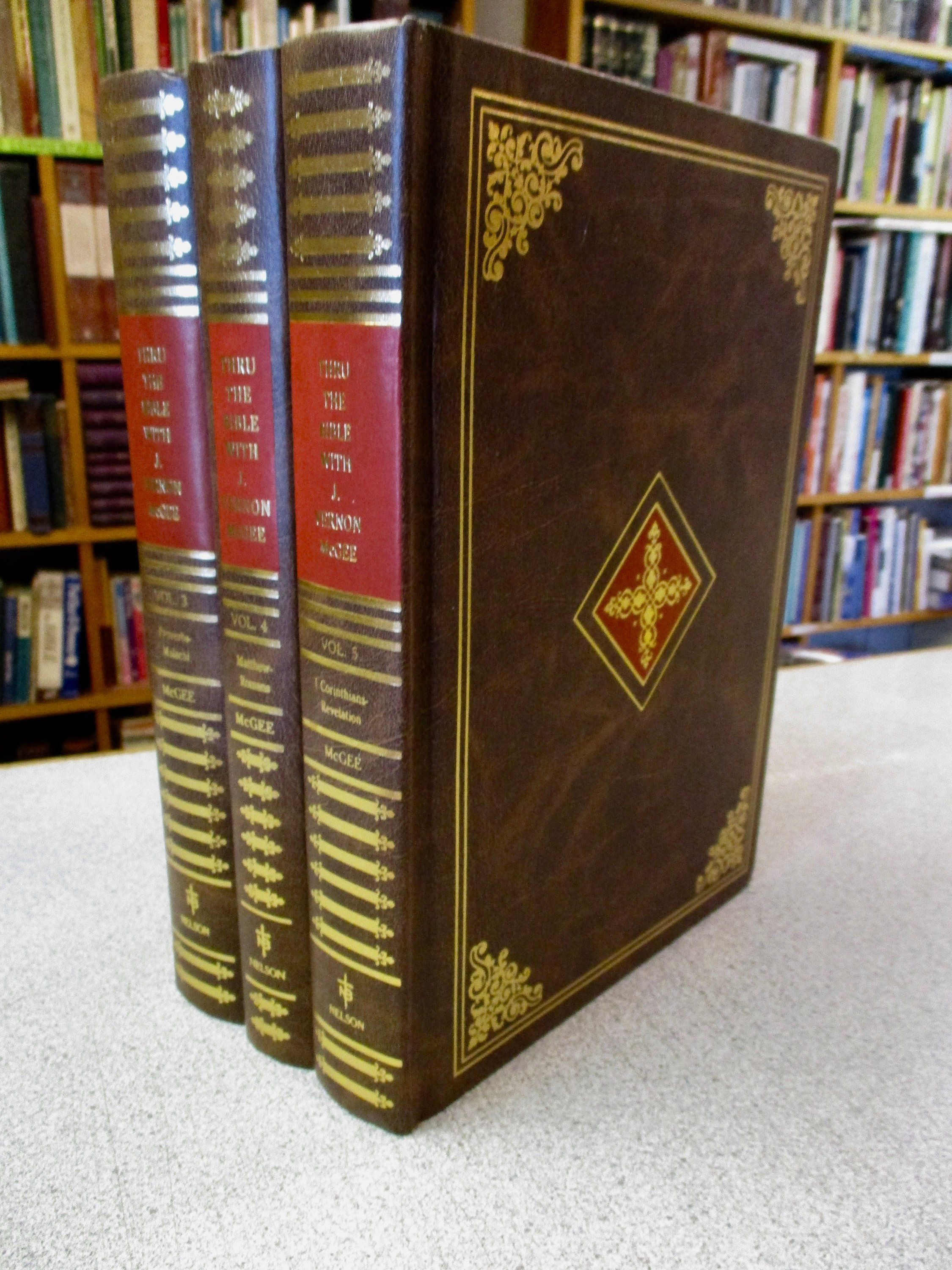 J Veron Mcgee Commentary Set Volumes 4 5 6 Thru The Bible Hardcover Set Of 3 Old Testament New Testament Chris Thru The Bible Christian Books Hardcover