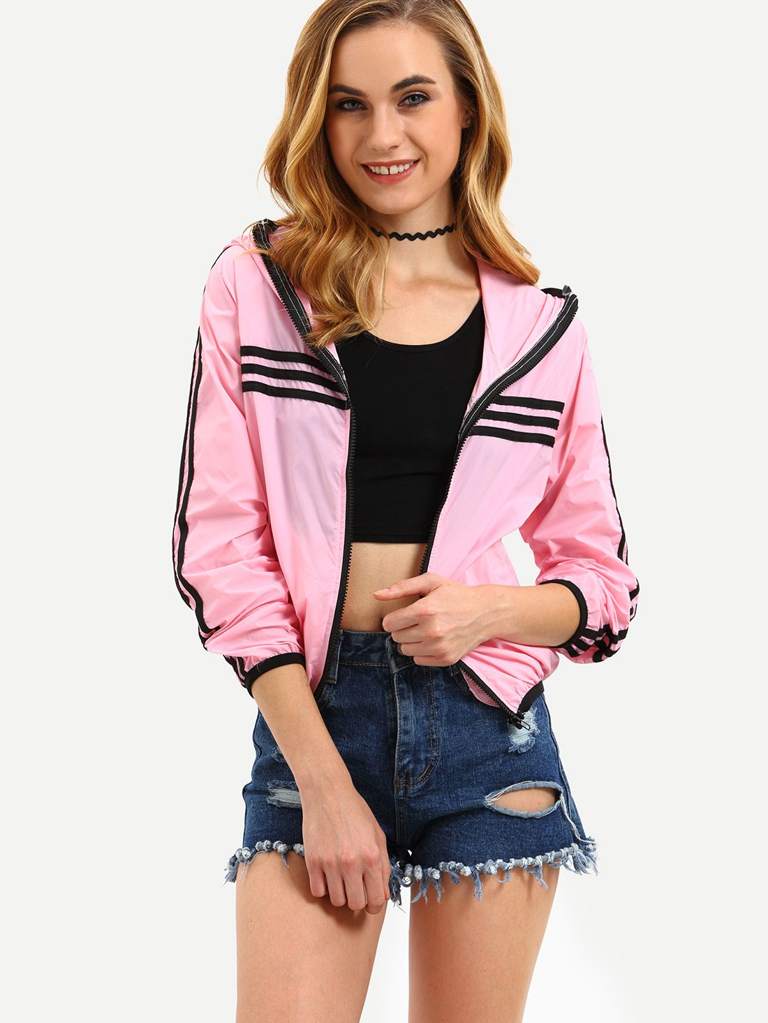 Moda Paragraph Pink Chaqueta Spring Baseball Ladies Satin Coat Casual Short Long Sleeve aq1waYfA