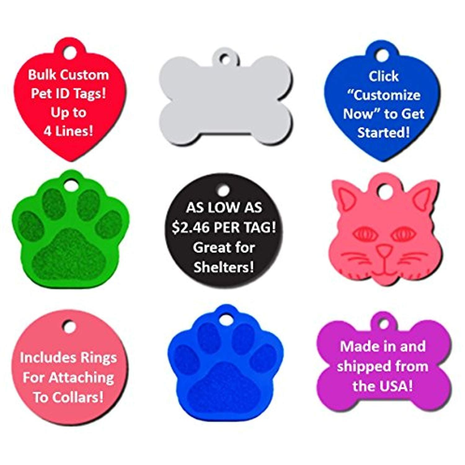 430f2baee8e3 Bulk Personalized Pet ID Tags for Rescues, Shelters, Humane Societies | As  Low As