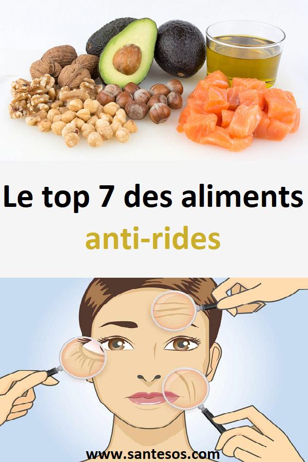 aliments anti rides