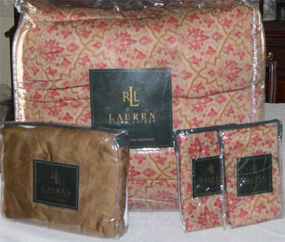 Ralph Lauren Langham Doncaster Full Queen Comforter Set New 1st