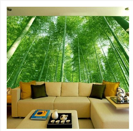 bamboo forest landscape 3D Wallpaper stereoscopic large mural wallpaper living room bedroom sofa TV background wall
