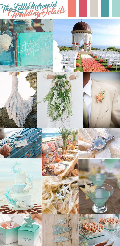 The Little Mermaid Wedding Inspiration Little Mermaid Wedding Mermaid Theme Wedding Ocean Wedding Theme