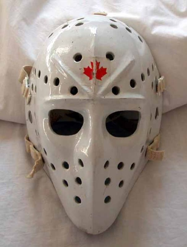 Jaques Plante Mask He Was The First Goalie To Use A Mask During A Game Hockey Mask Goalie Mask Hockey Goalie