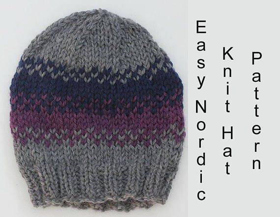 Easy Nordic Hat Knitting Pattern 4fc2340a0451