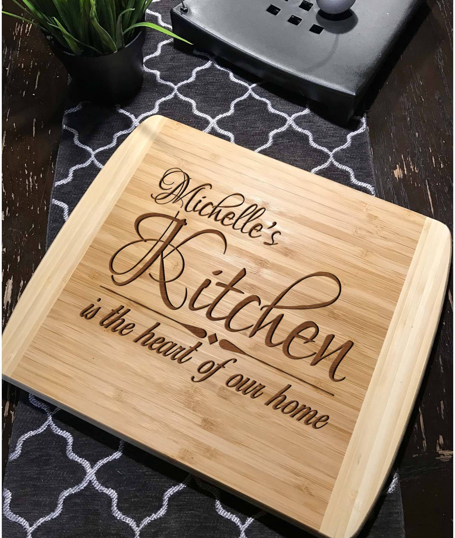 Personalized laser engraved Bamboo cutting board Personalized