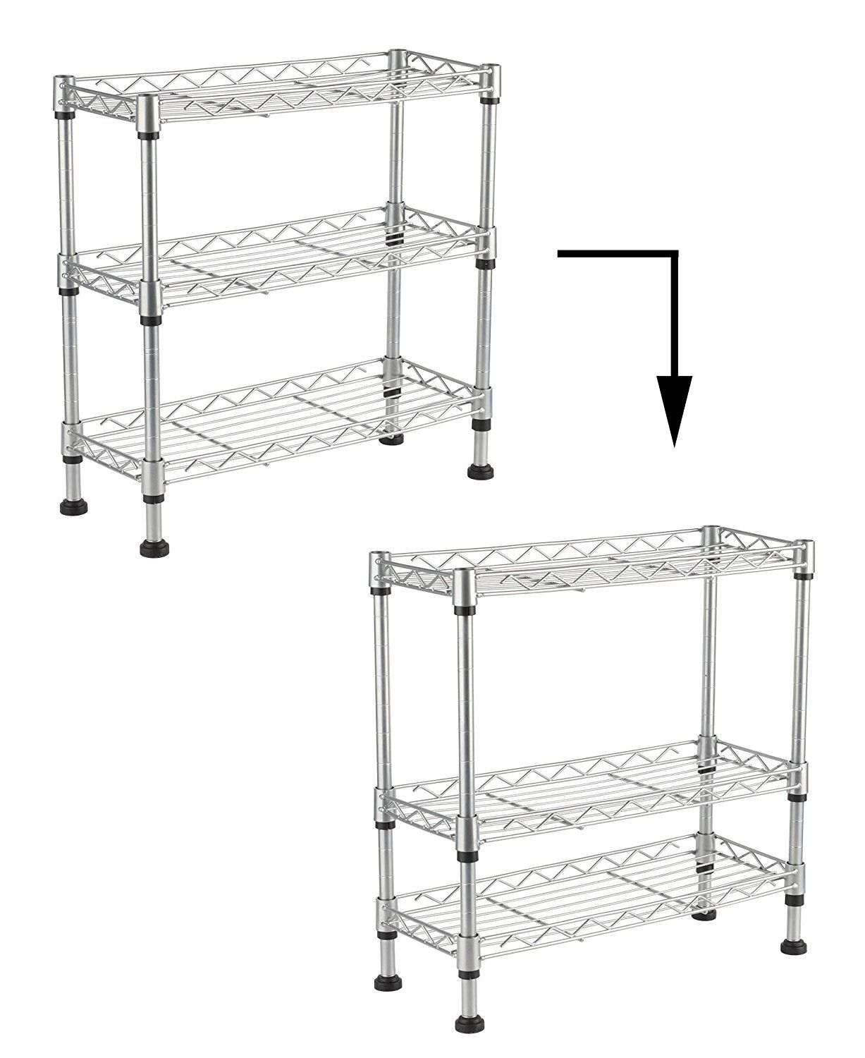 Amazon adjustable steel tier spice rack kitchen cabinet and