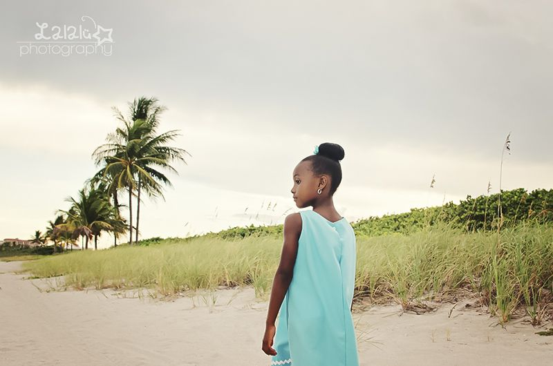 Gorgeous girl!  Beach photo session; Birthday session; Light blue homemade dress; photographer's notes; Lalalu photography | Miami Child Photographer | Dania Beach, FL