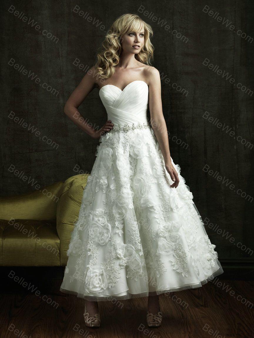 Robe de mariée courte en satin bustier blanche dentelle perle fleuri ...