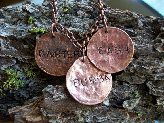 "Mothers Copper Necklace ""Mothers Children"" Hand Hammered metal Stamped grandma personalized"