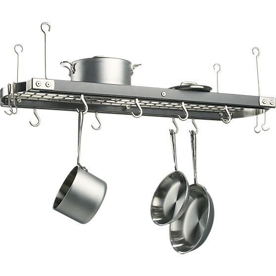 J.K. Adams Large Grey Ceiling Pot Rack + Reviews | Crate ...