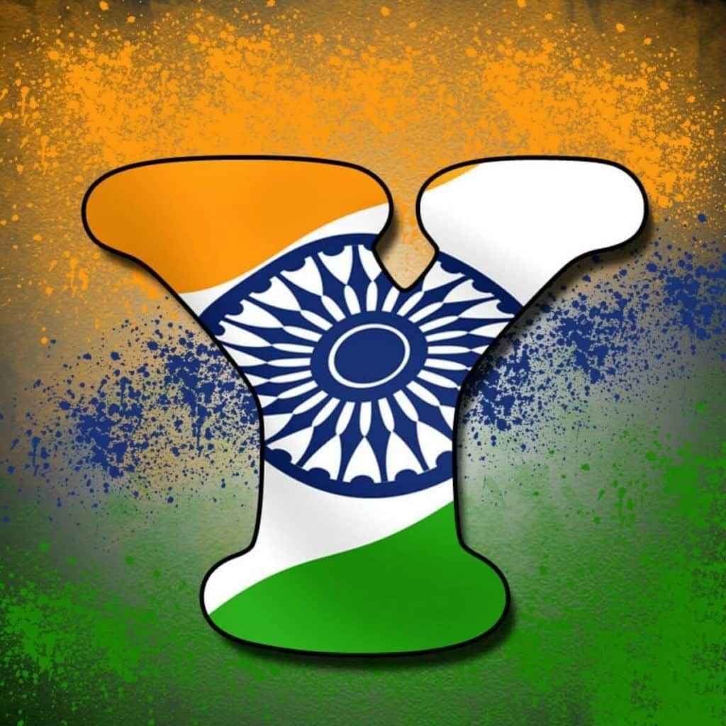 Alphabet Tiranga Image Indian Flag Images Indian Flag Colors Lettering
