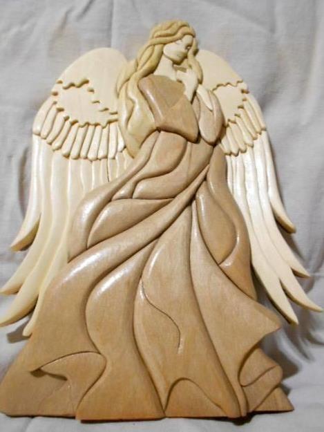 Intarsia angel scrollsaw art vickie s