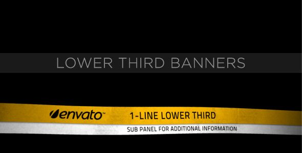 Lower Third Banners | After effects, Videos and Templates