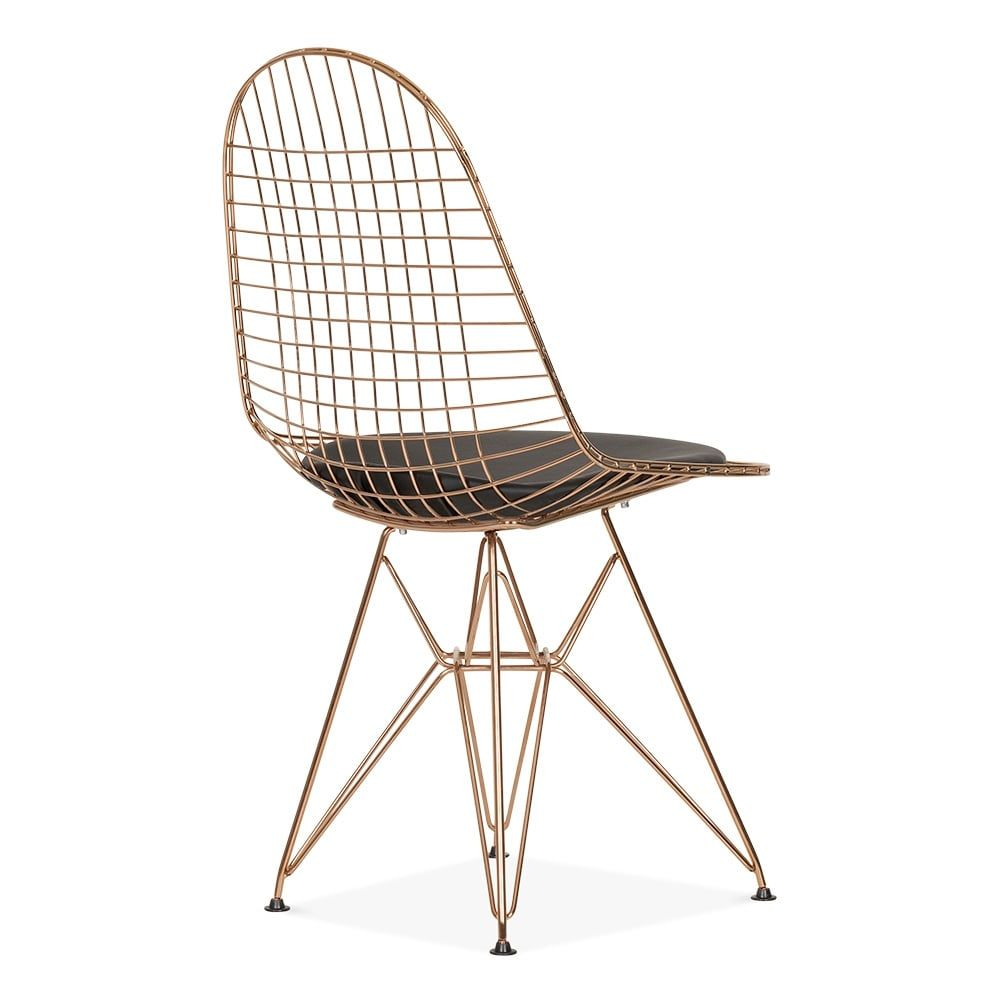 wire mesh dining chairs uk swivel chair cheap eames copper dkr cafe cult furniture