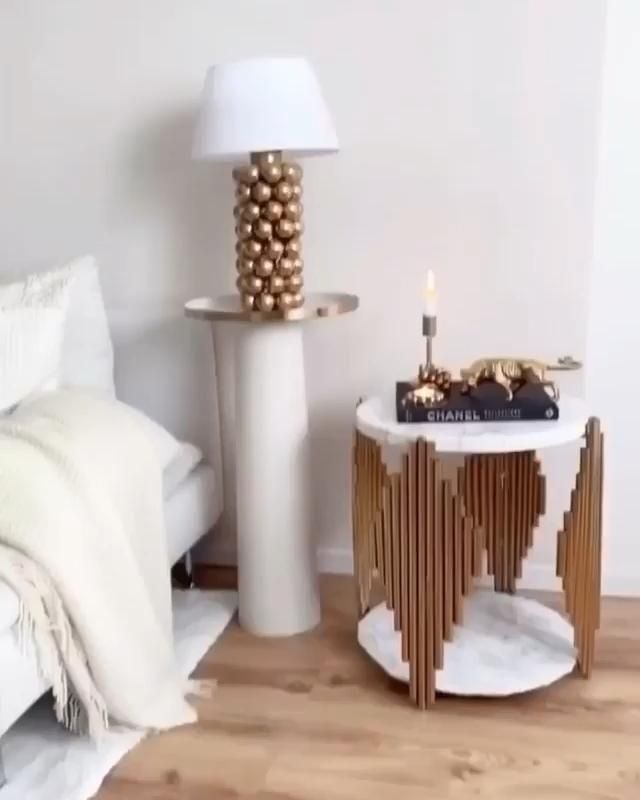 DIY table lamp from Ping-Pong balls