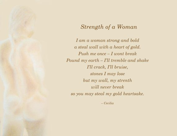 Image And Poem Depicting The Strength That By Ceciliasdesignstudio