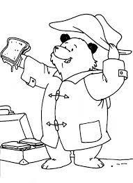 Colouring Pages Kids Paddington Bear