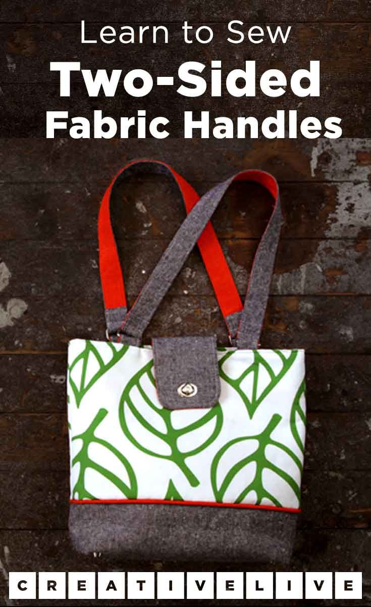 DIY Tote Bag  Add a Pop of Color with Two-Sided Fabric Handles ... d877214025b0b