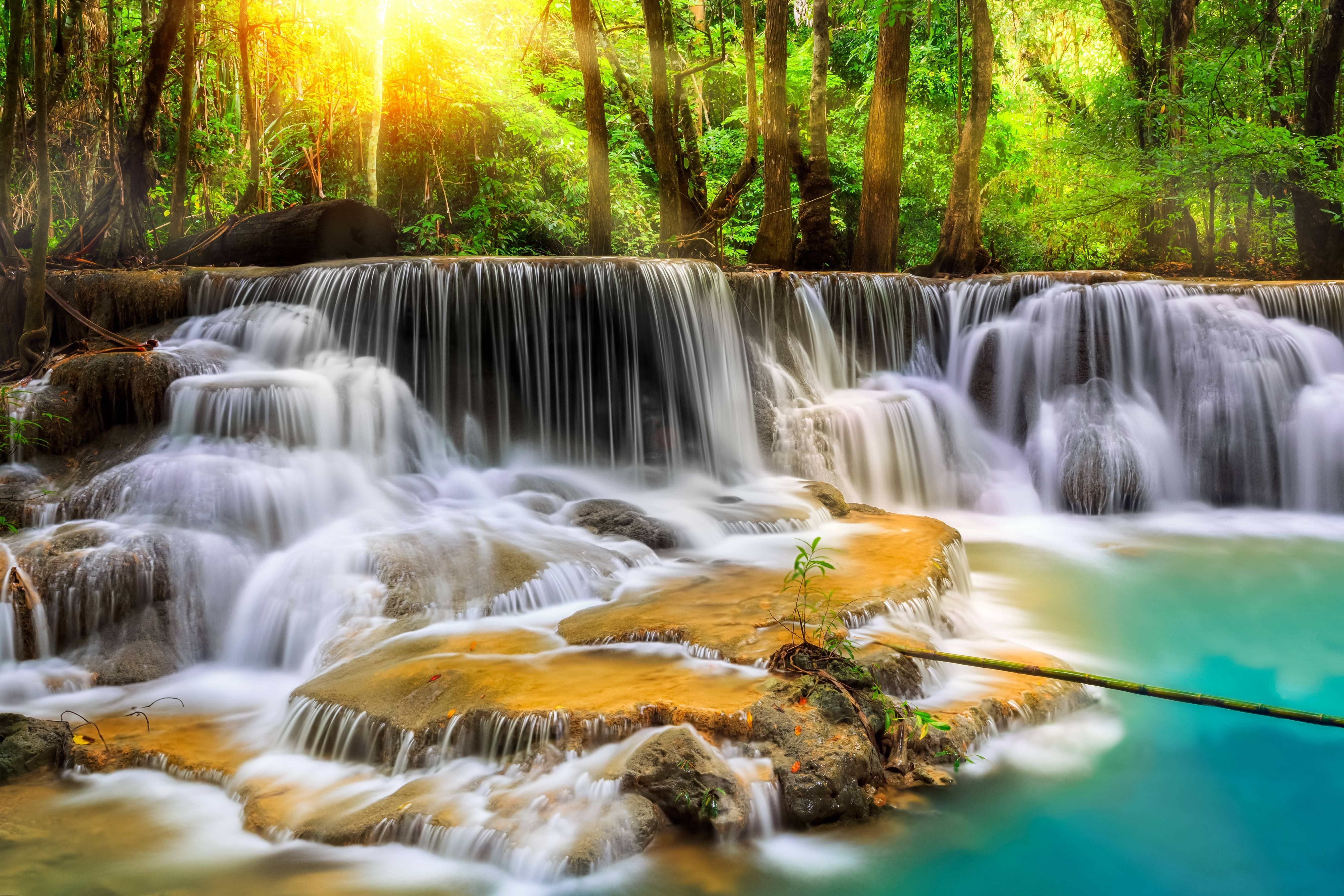 Natural Waterfall Wallpapers High Quality Resolution For Free Wallpaper Waterfall Wallpaper Natural Waterfalls Thailand Waterfall