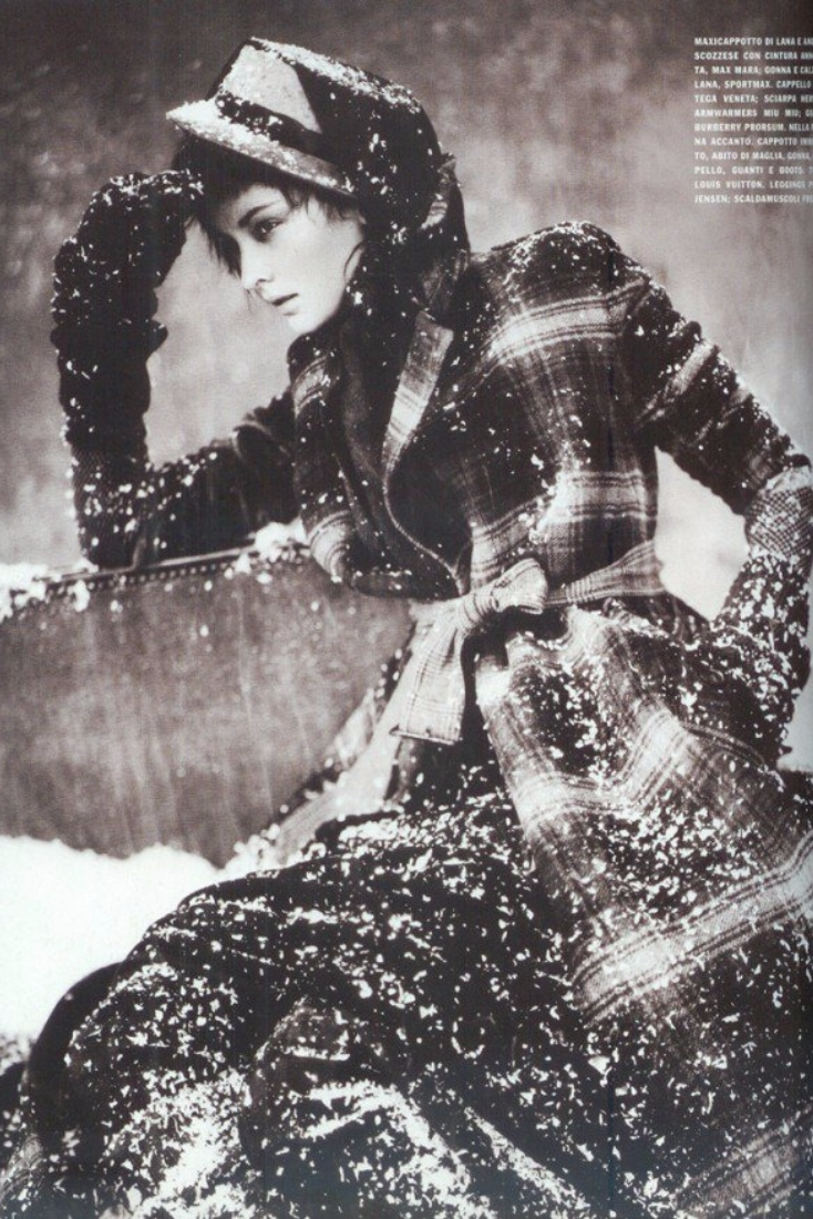 Vintage Fashion by legendary fashion photographer Paolo Roversi. Paolo is an Italian-born fashion photographer who lives and works in Paris. Paolo Roversi's interest in photography was kindled as a teenager during a family vacation in Spain in 1964. Back home, he set up a darkroom in a convenient cellar with another keen amateur, the local postman Battista Minguzzi, and began developing and printing his own black & white work.