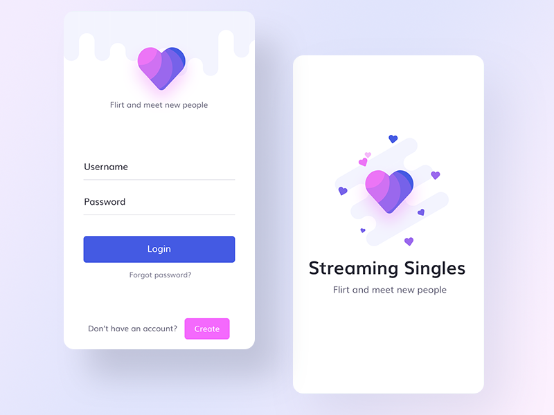Dating app mock ups | APP | App login, App design, Mobile