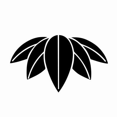 Mon Emblem Gomaizasa The Five Bamboo Leaves Of The Shofukutei