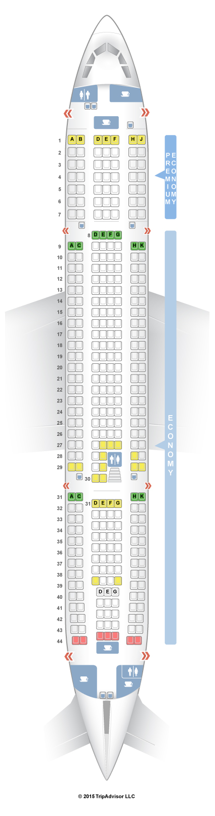 SeatGuru Seat Map Thomas Cook Airlines Airbus A330-200 (332 ...