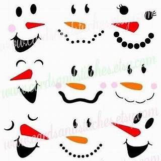 graphic relating to Printable Snowman Face Template known as Impression end result for No cost Printable Snowman Experience Template Vector
