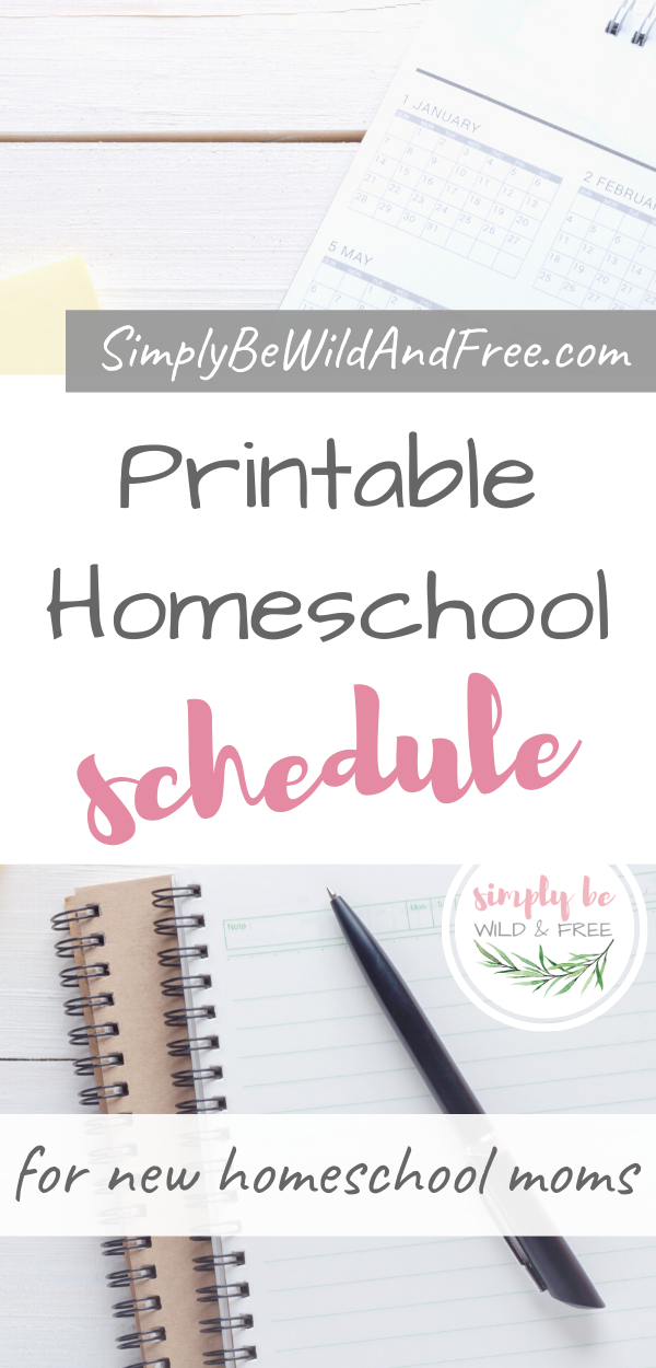 Free Printable Kindergarten Homeschool Schedule