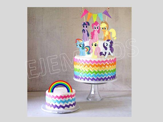My Little Pony Cake Topper Cupcake Toppers Decoration Digital File