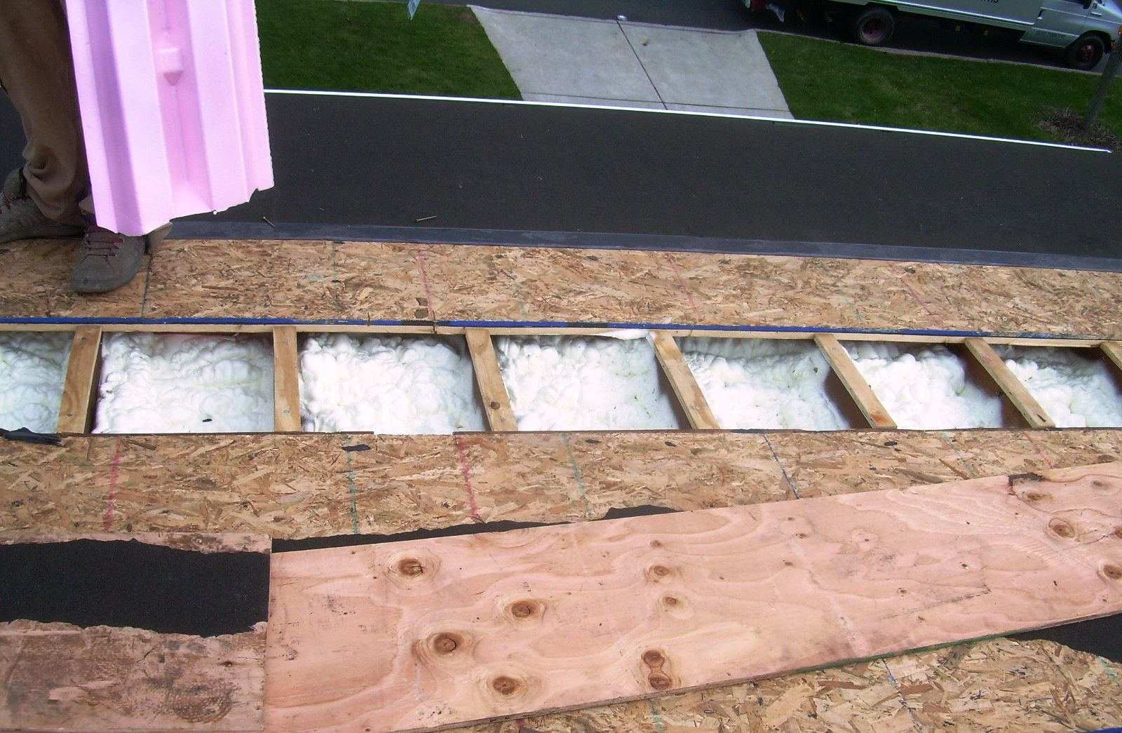 Kiefaber Foam In Roof With Images Installing Insulation Spray Foam Home Insulation