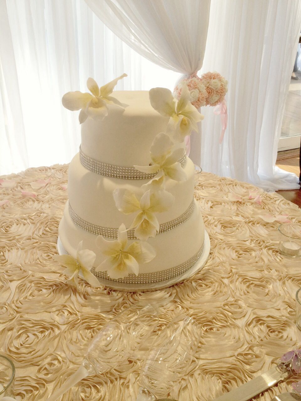 Edible orchid flower wedding cake | Orchid cake | Pinterest | Orchid ...