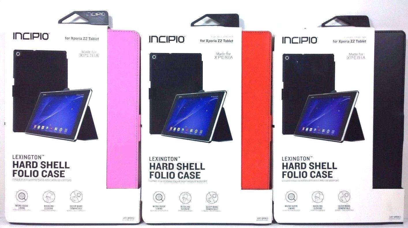 classic fit b78b5 771dd $7.58 - Incipio Lexington Hard Shell Folio Case For Sony Xperia Z2 ...