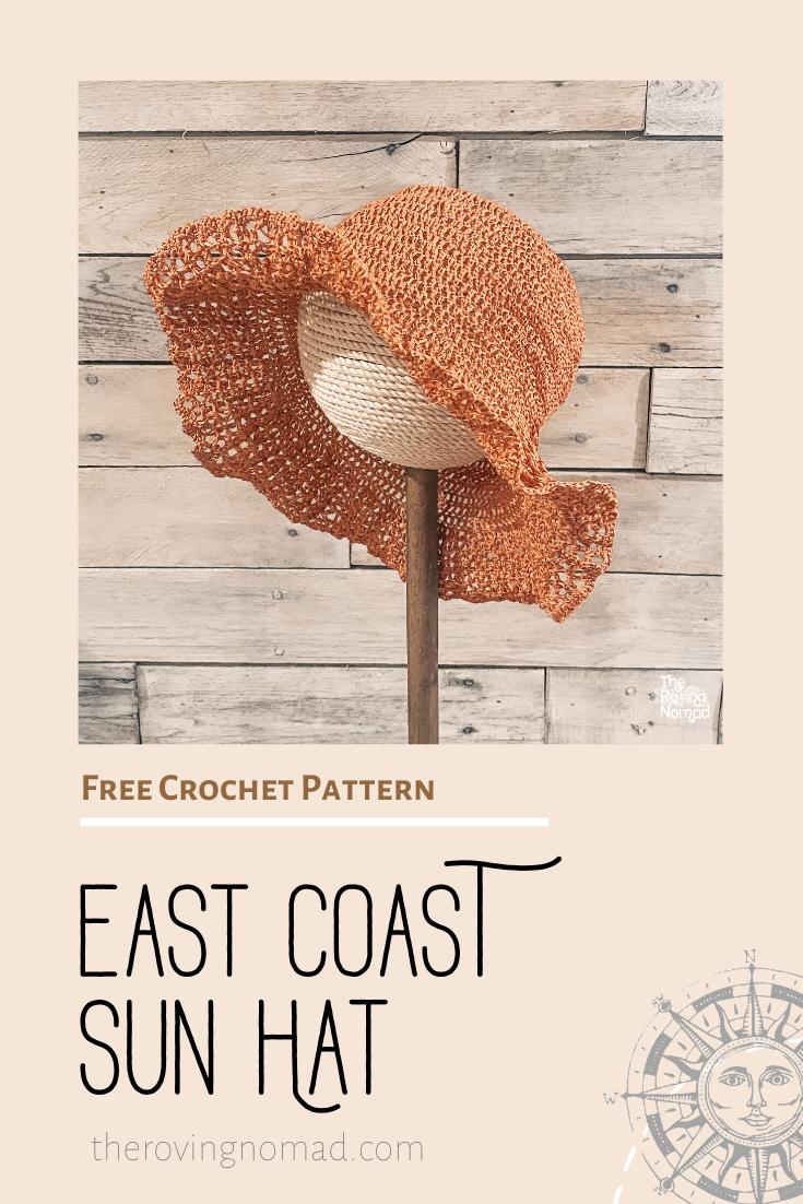 East Coast Sun Hat — The Roving Nomad   Crochet sun hat, Crochet ...