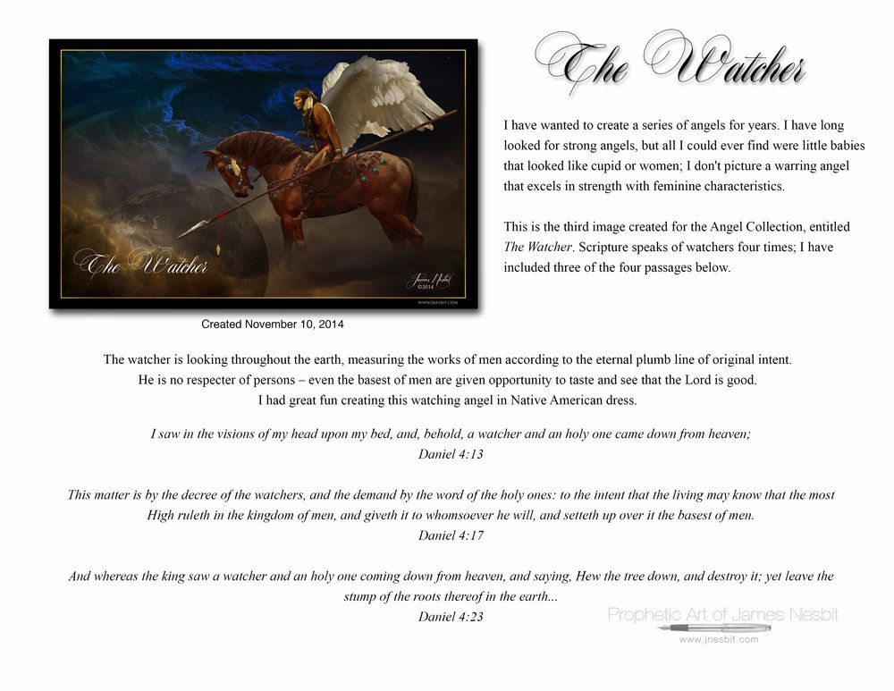 The Watcher Products 3 Prophetic Art Of James Nesbit Prophetic Art Art Christian Art